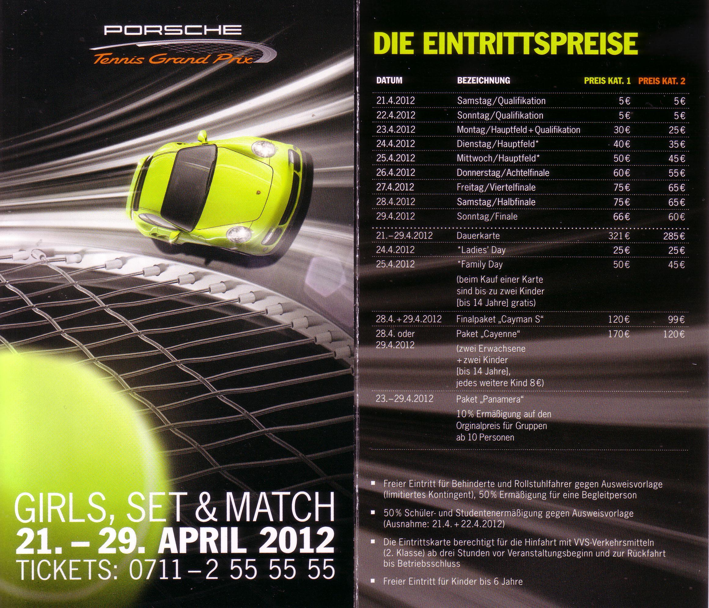 Porsche Tennis Grand Prix 2012