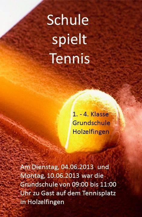 Schule spielt Tennis