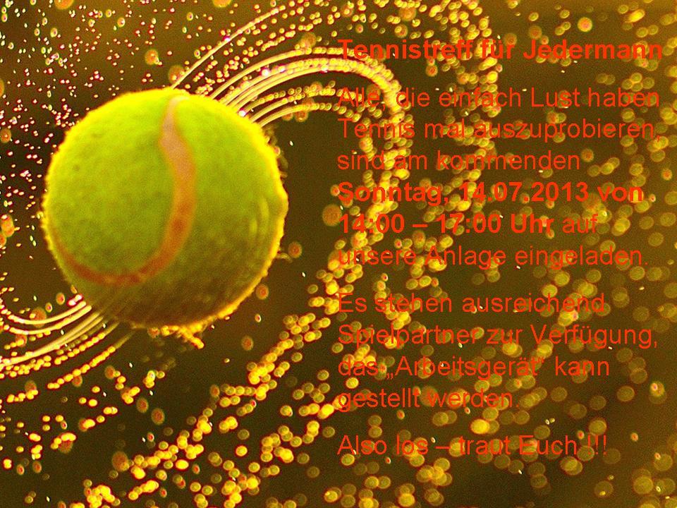 Tennistreff für Jedermann